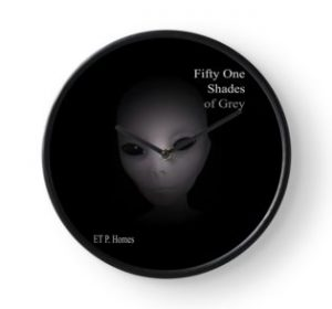 Fifty One Shades of Grey - Clock