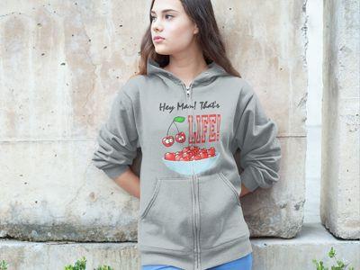 bowl-a-cherries-hoodie-grey